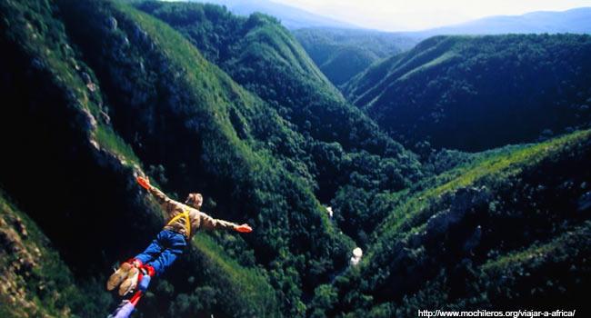 viajar a Africa- salto bungee