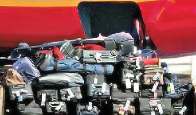 equipaje en el avion