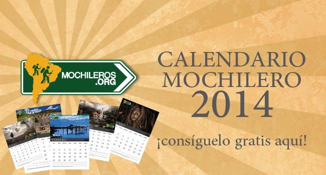 calendario 2014 mochileros viajeros