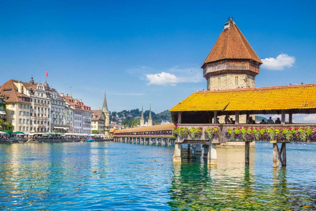 Lucerna, Suiza - viajando en tren por Europa con Eurail