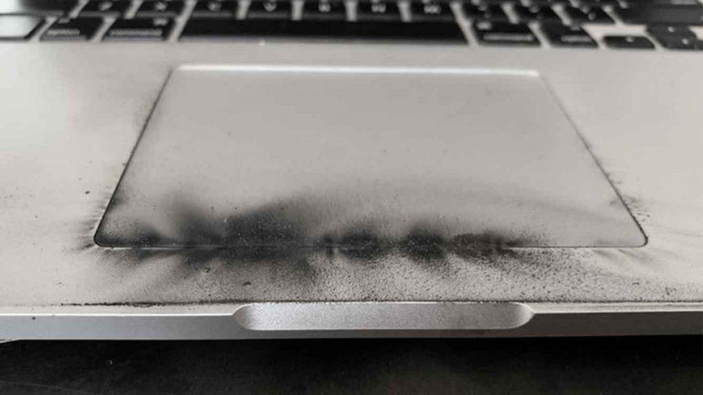 Teclado de Macbook Pro quemado