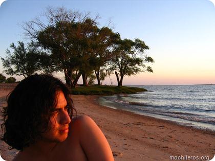 mochileros playa