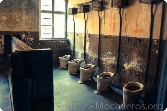 Baños de campos de concentracion - Auschwitz