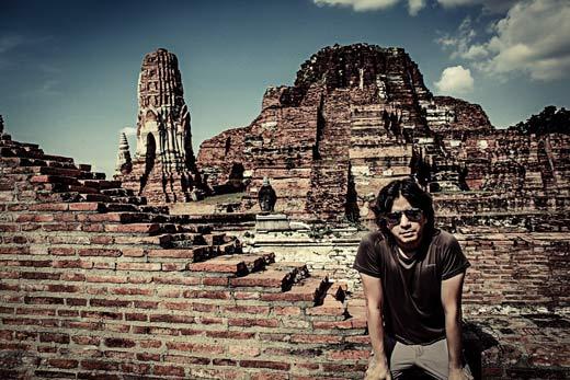 Nelson Mochilero en Ayutthaya Tailandia