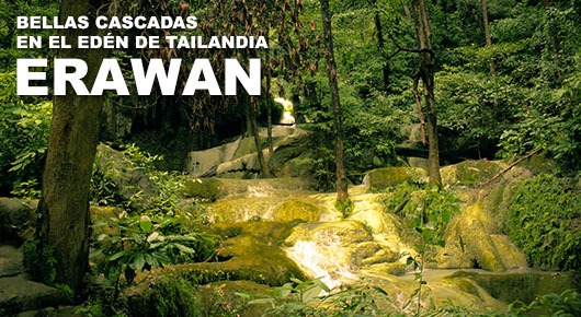 Photo of Bellas cascadas en el Edén de Tailandia: Erawan