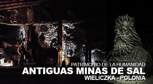 Antiguas minas de sal en Wieliczka Polonia