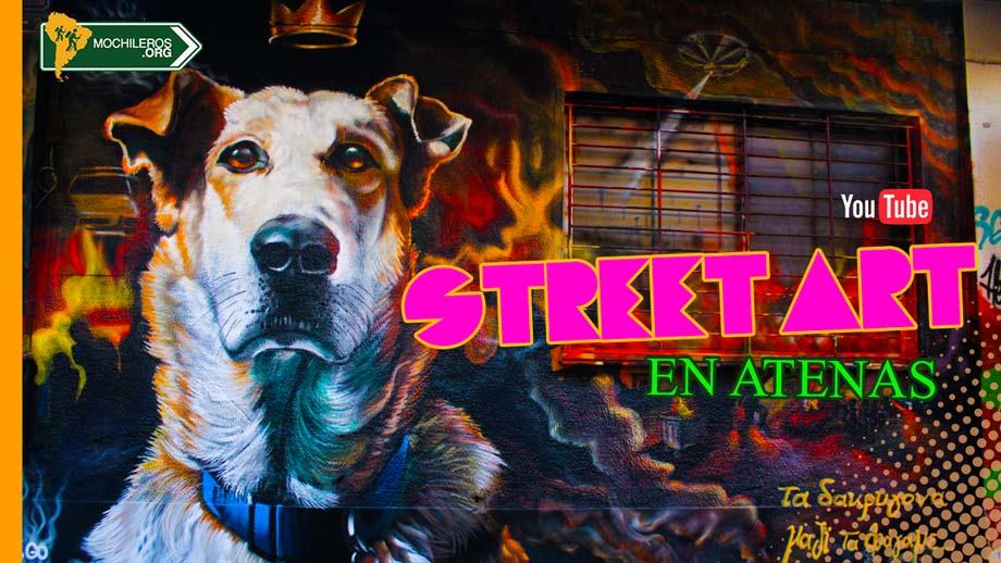 street art en atenas grecia - dog
