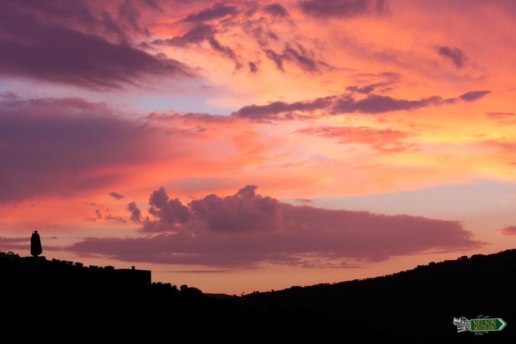 caida del sol, rio Duero (Douro)