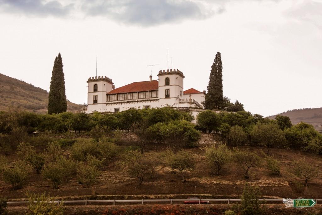 Castillo al margen del río Douro