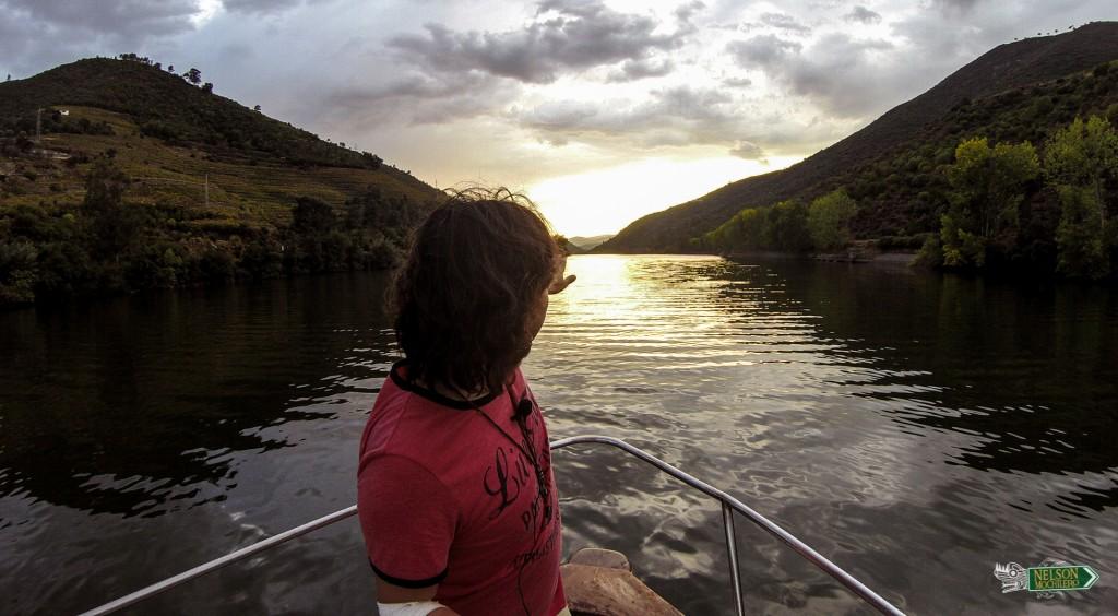 Nelson Mochilero en el río Duero (Douro), Portugal