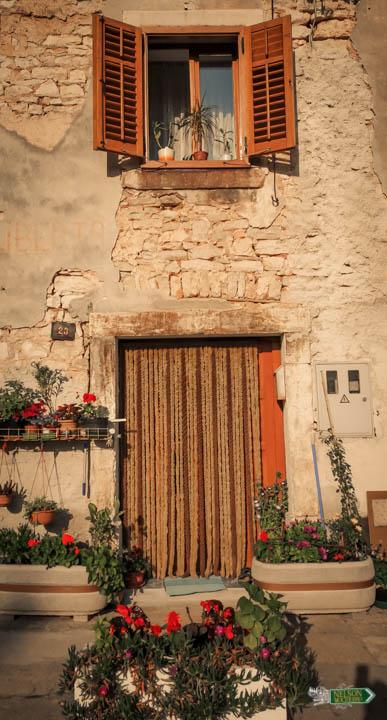 Fachada de Vodnjan - Istria, Croacia