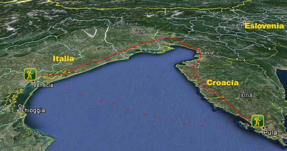 Mapa Istria Pula