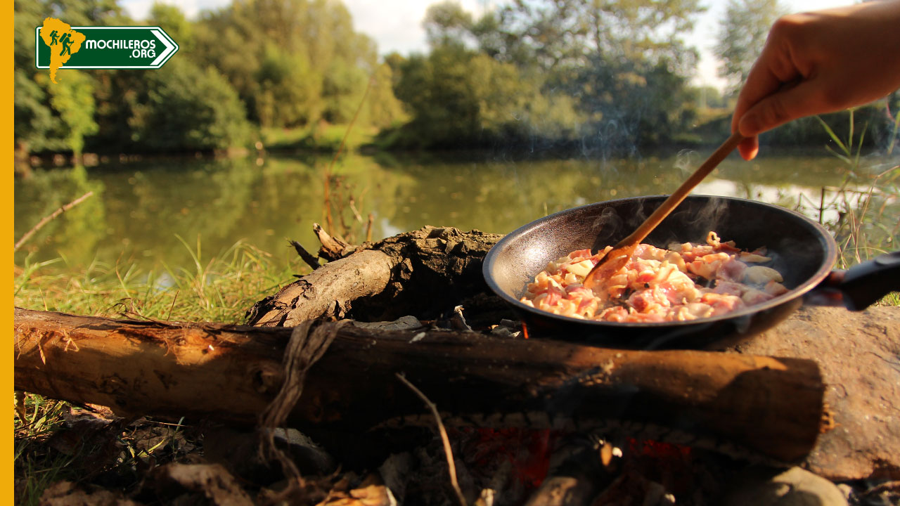 outdoor cooking carbonara bushcraft cocina outdoor